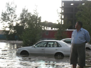 A Flood in Mongolia.