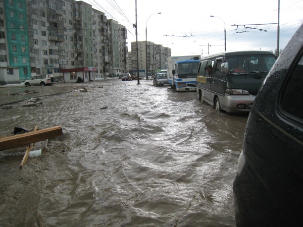Flooding in Ulaanbataar, Mongolia.