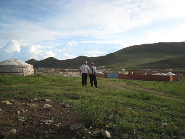 Daniel and companion in Ulaanbataar.