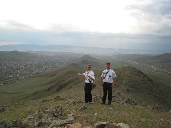 Daniel on a mount overlooking Ulaanbataar.