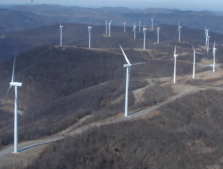 Tennessee wind turbines similar to McFadden Ridge
