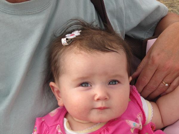 Aurora on grandma's lap at Antelope Island.