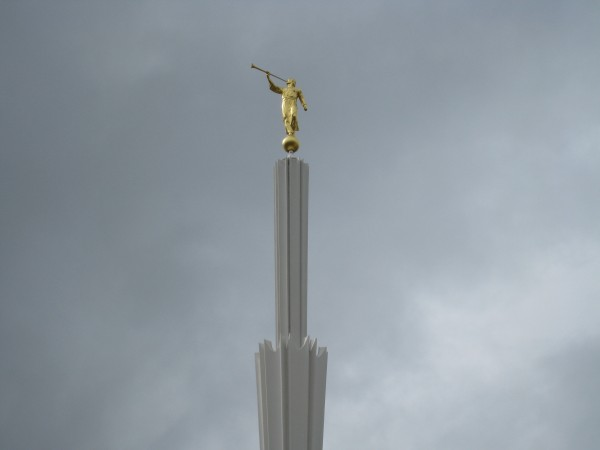 The spire was originally gold colored but in 2002 was painted white