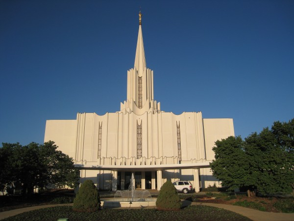 The Jordan River temple entrance