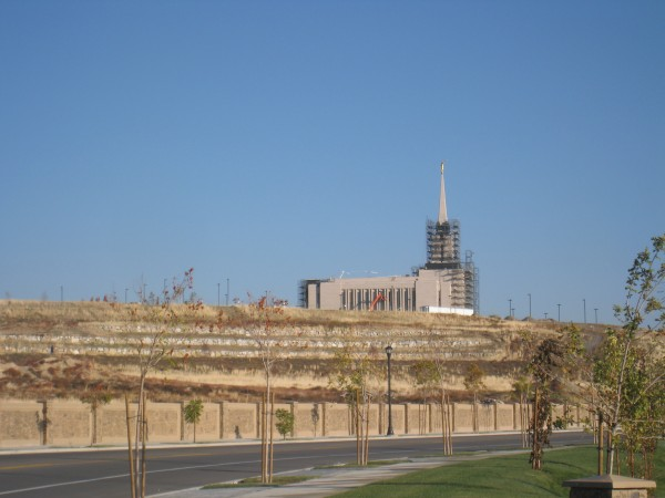 The Jordan River temple is close -- located approximately 3½ miles to the northeast