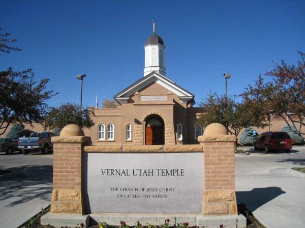 Vernal was the first temple built from an existing building—the Uintah Stake Tabernacle