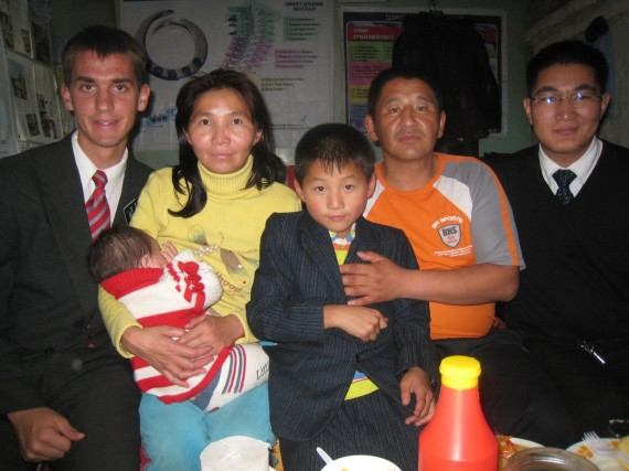 Daniel (left) with member family in Mongolia