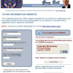 A quick way to find your party affiliation, voting location, and sample ballot.