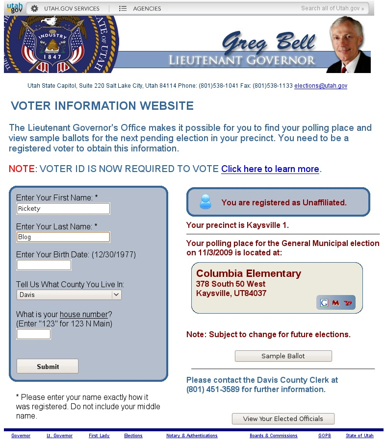 Information Site: Davis County Early Voting