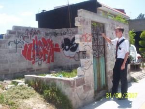 Jake tracting in Mexico.