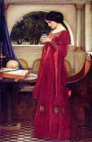 The Crystal Ball. J.W. Waterhouse.