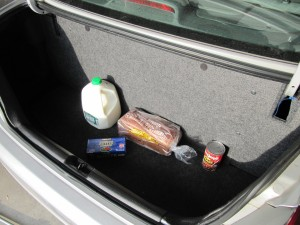 Honda Civic GX trunk