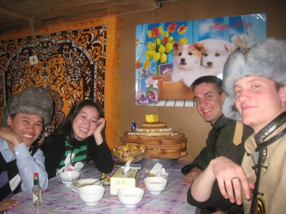 Daniel with Mongolian members