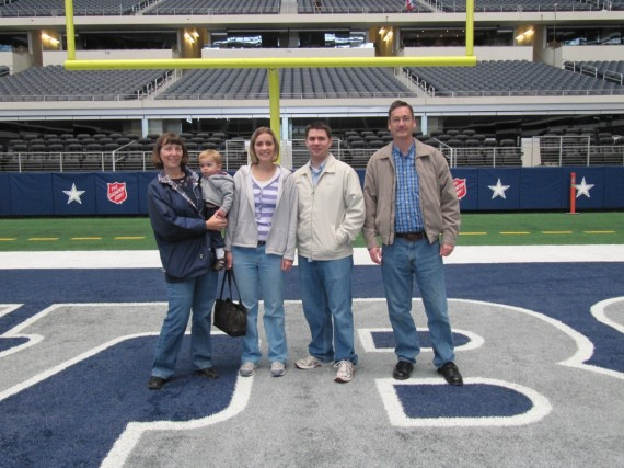 Cowboys Stadium at the end zone