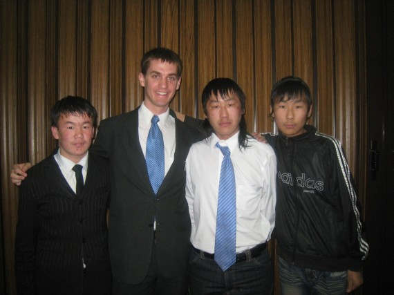 Daniel with Mongolian baptismal candidates