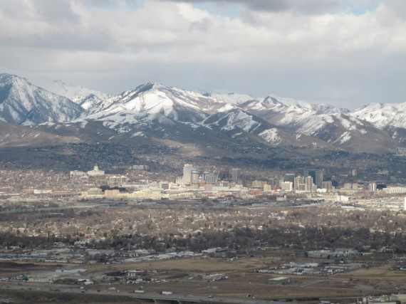 Salt Lake City from the air