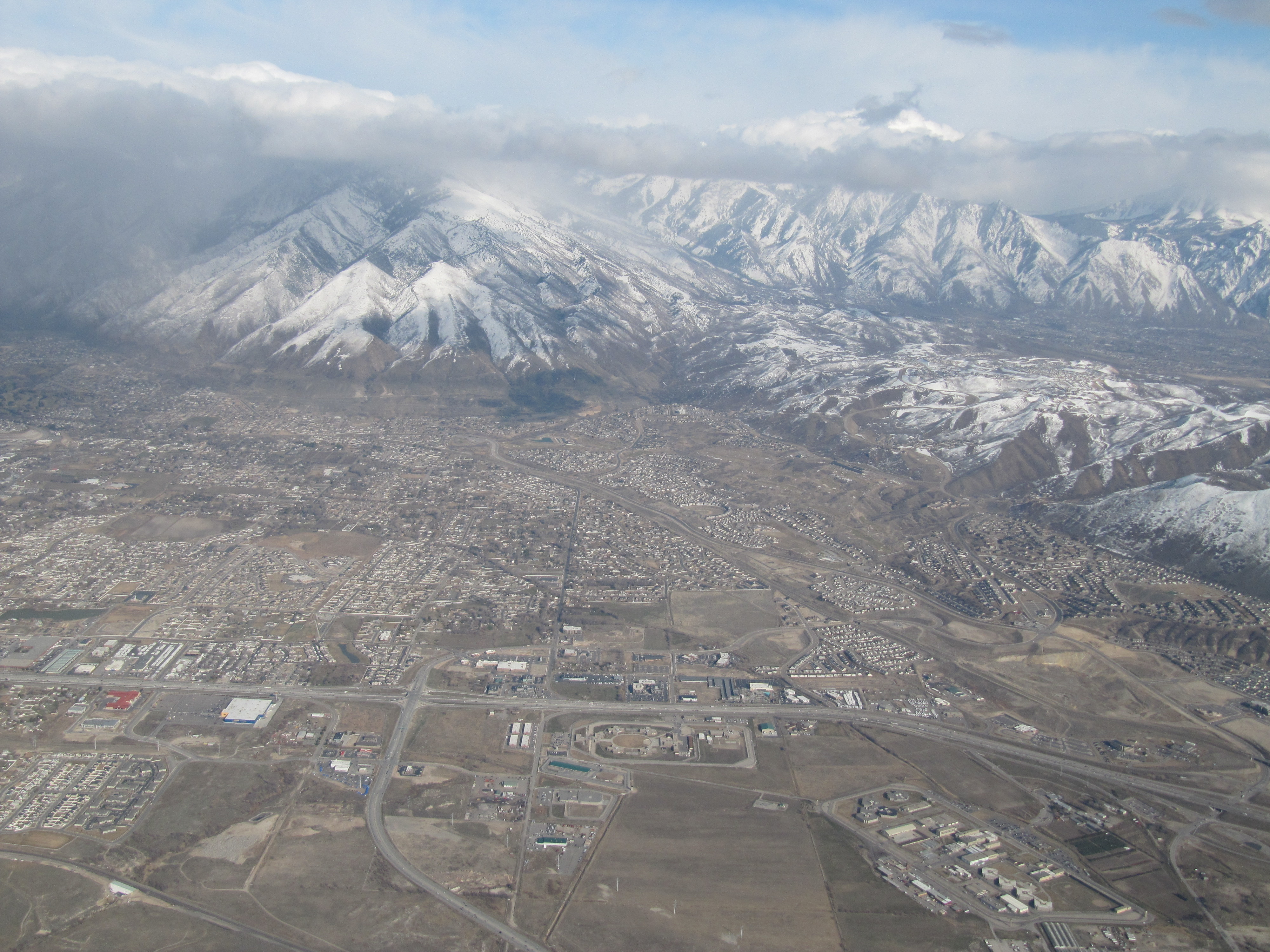 Salt Lake valley from the air