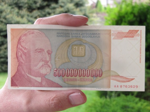 500 billion dinara banknote