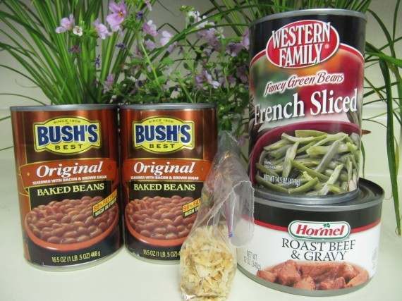 Beefy Bean Casserole ingredients