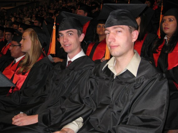 Jake and Paul at graduation