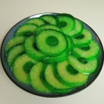 Green Jell-O Pineapple Rings