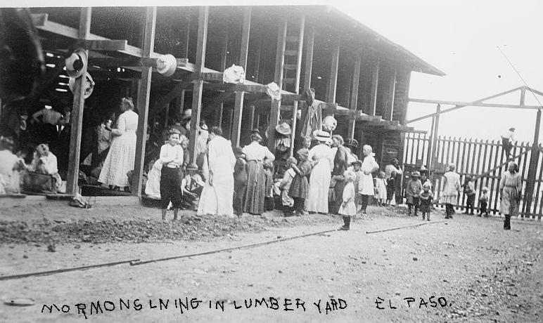 Mormons living in El Paso lumber yard
