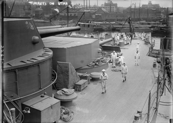 USS Utah turrets