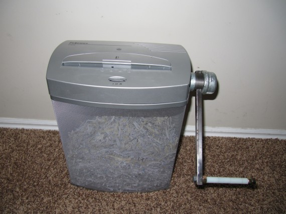 Eco-Friendly Green Paper Shredder