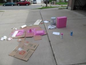 Pink computer parts