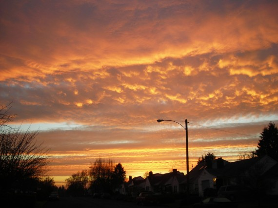 Sunrise in Vancouver Washington