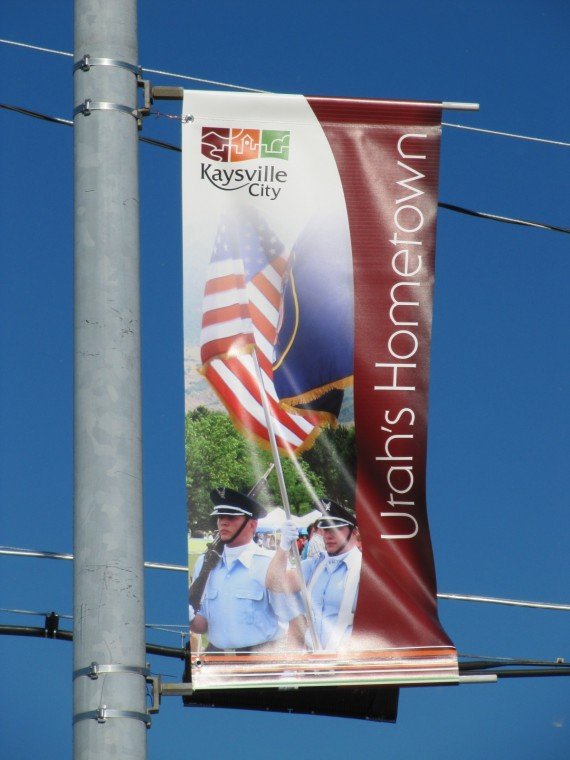 Kaysville City Utah's Hometown street banner
