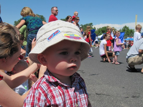 Bryson watches the parade