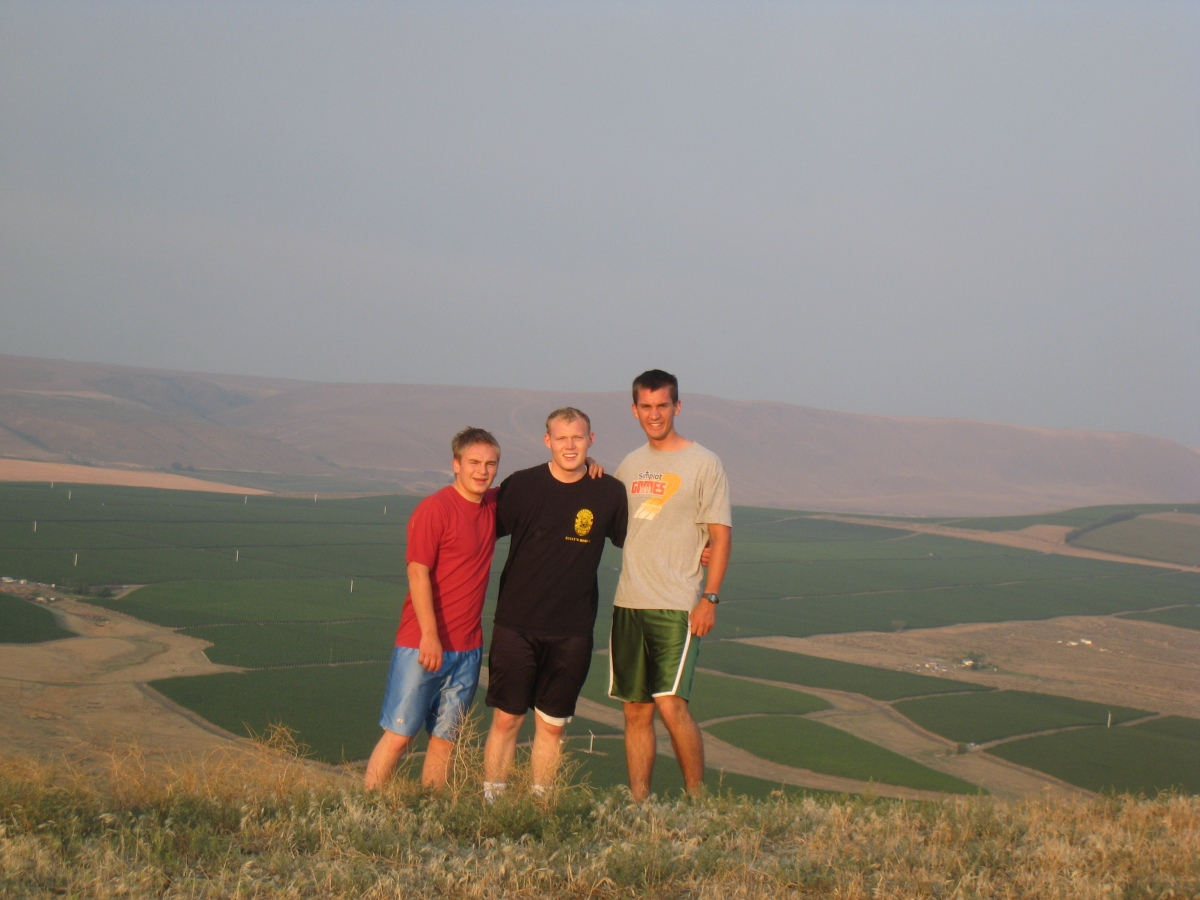 Climbing a mountain (Daniel on right)