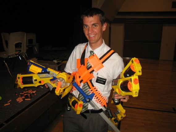 Daniel ready for Nerf Wars