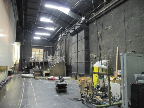 Randall Theatre backstage