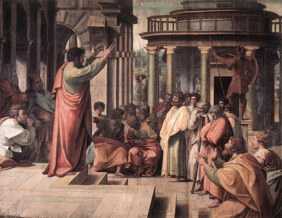 The Apostle Paul preaching