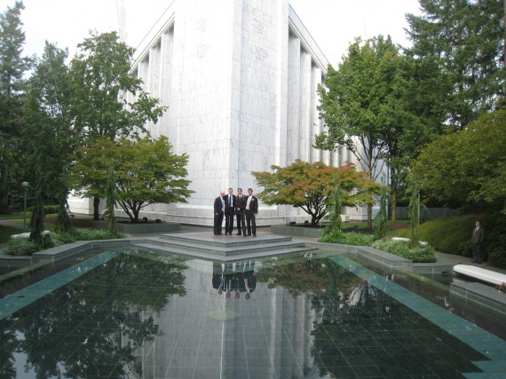 Daniel at the Portland Temple
