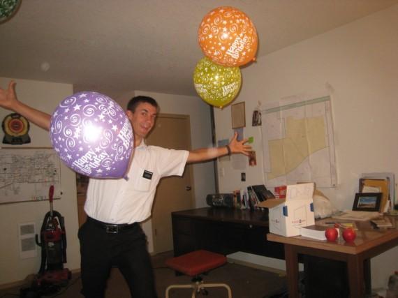 Daniel's birthday balloons