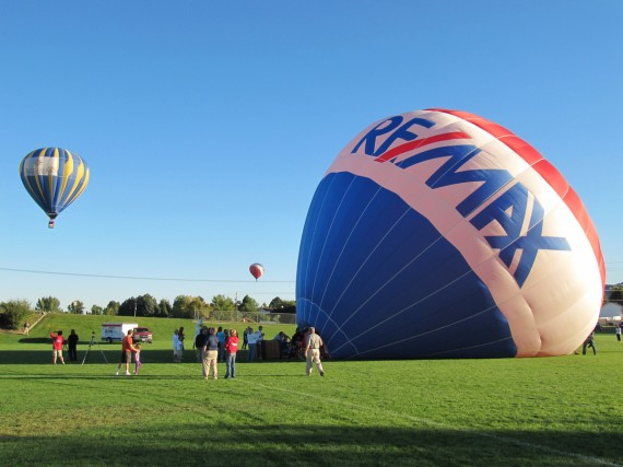 Hot Air balloons Over Ponds Park