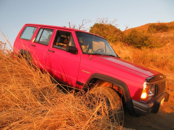 Jeep Cherokee at sunset