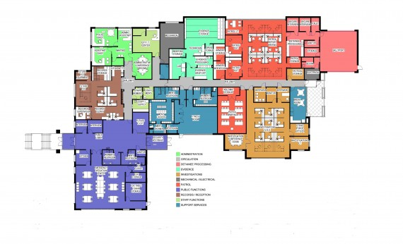 Kaysville City Police Station Floor Plan