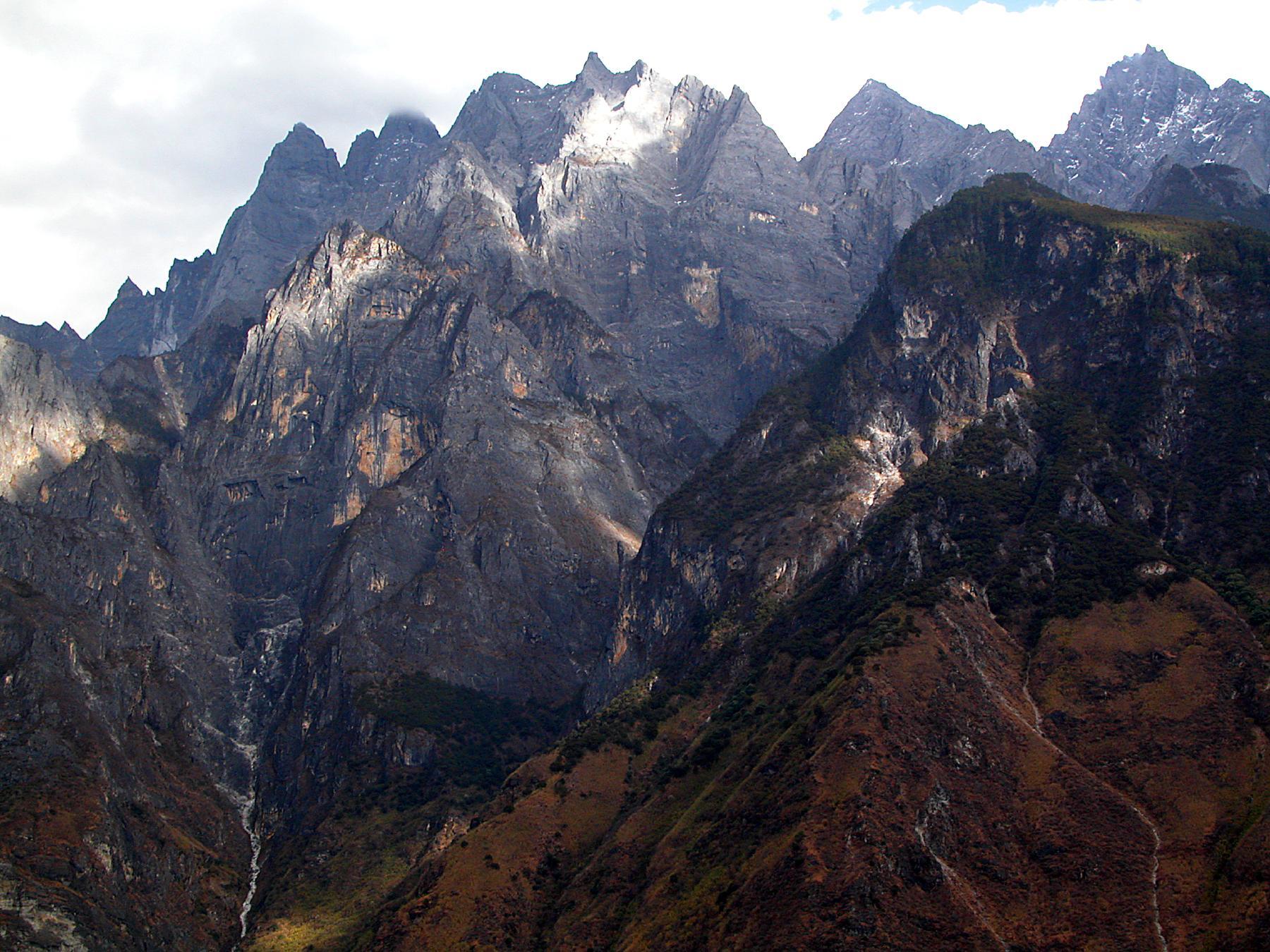 Mountains of the Yangzi River gorge Yunnan China