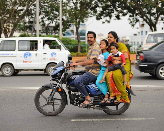 Family ride, Hyderabad, India