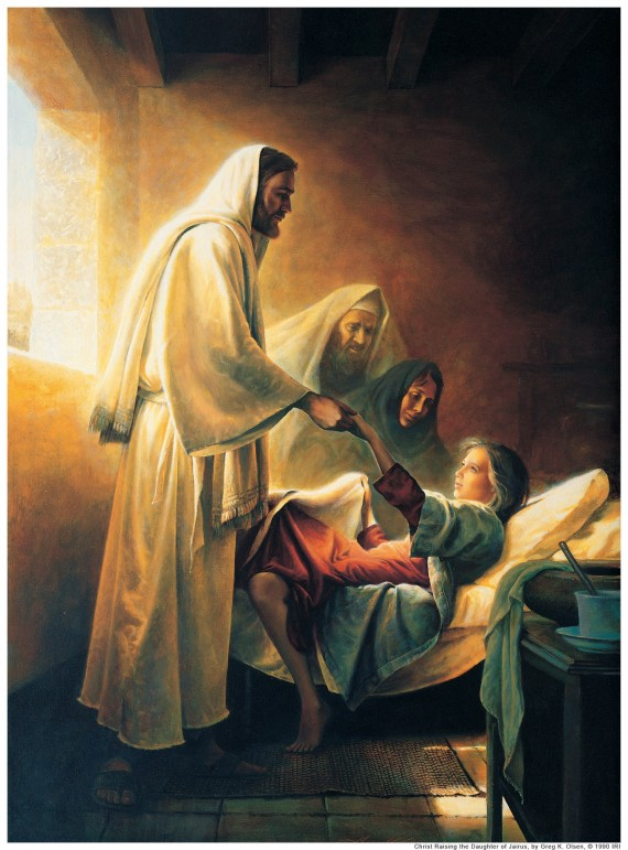 Jesus Raising The Daughter Of Jairus