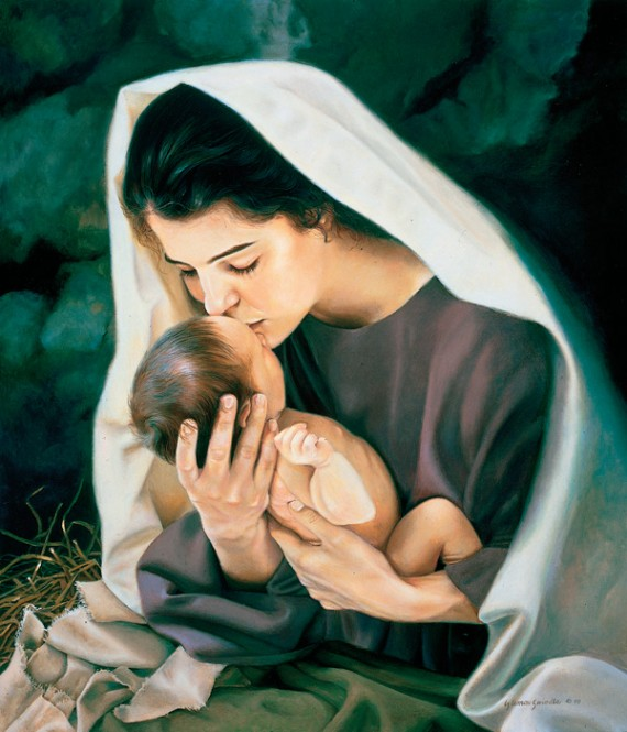 Mary holding child