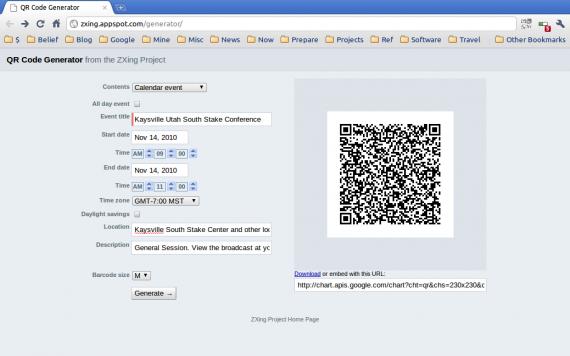 QR Code Generator screenshot