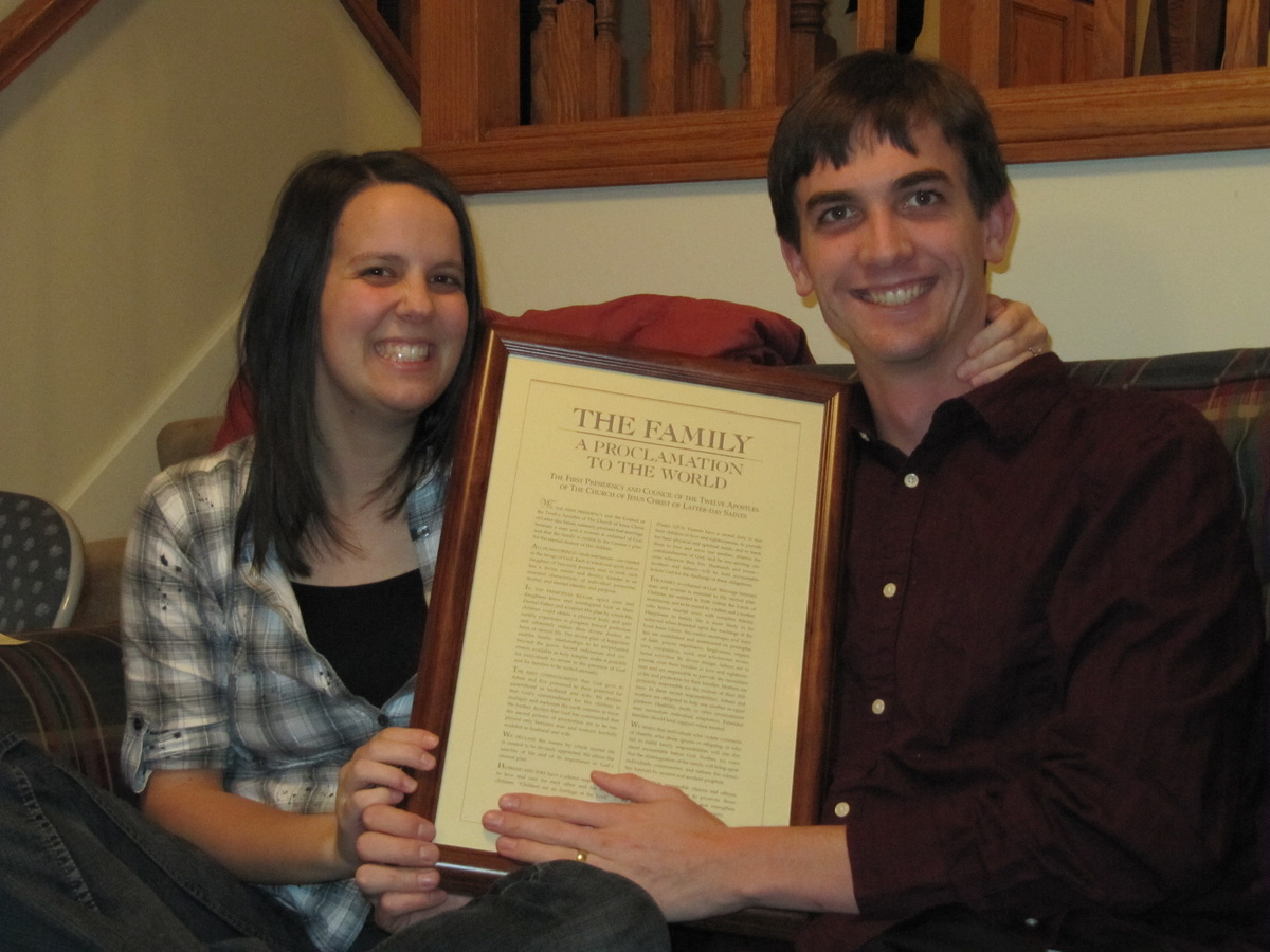 A Proclamation to the World at the wedding gift opening