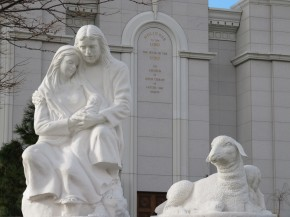 Bountiful Temple Nativity Scene