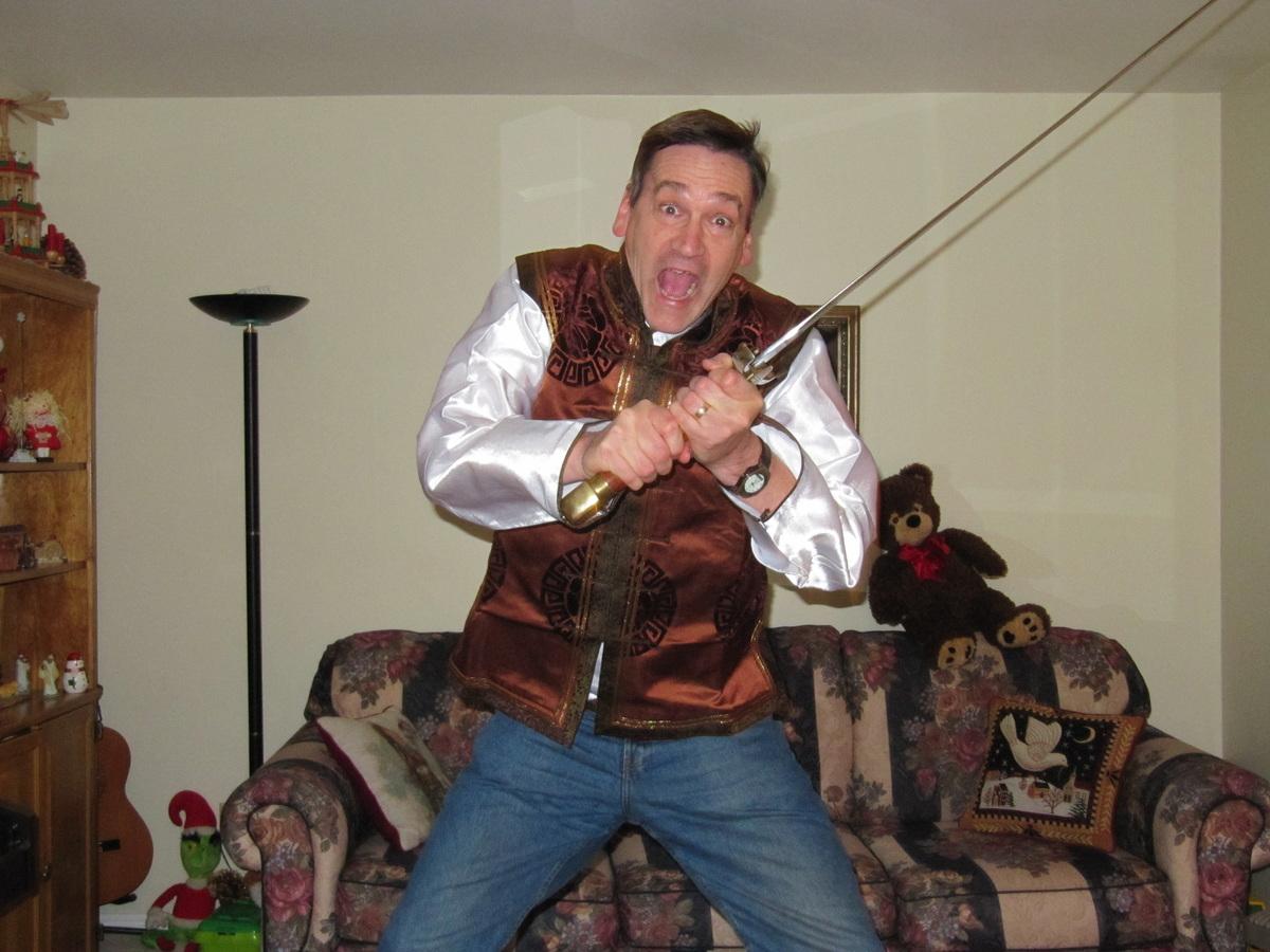 Crusader sword and Mongolian vest