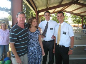 Elder Hardy and Elder Willoughby with a couple